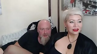 A real retrench fucks his wife in all holes in private show... )))