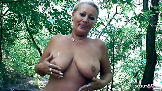 Curvy 73yr old Granny, POV Scandal Sex in the sky way abode surrounding Young Guy