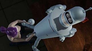 Futurama - Leela gets creampied by Bender - 3D Porn