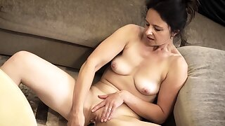 Beautiful mature babe Anette Harper enjoys some wine make sure of