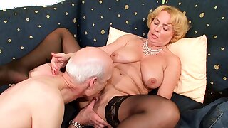 74yr age-old German Granny and Grandpa First Time Porn