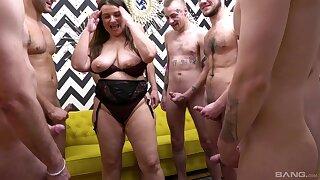 Curvy MILF Iveta Takes On Multiple Cocks